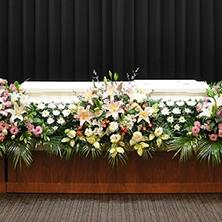 イメージ:棺まわり生花、ご供花、特注お骨壺