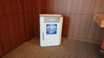 ジアイーノ(次亜塩素酸水による空間除菌清浄機)の設置・運転