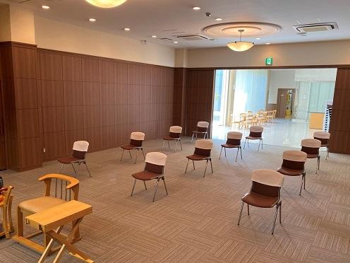 イメージ:会場もソーシャルディスタンスを考えての座席配置でゆったりとした空間で出来ました