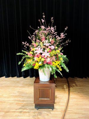写真:卒業式装花